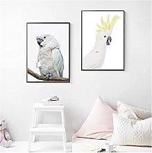 White Cockatoo Canvas Painting Australian Animal