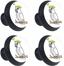 White Cockatoo Cartoon Cabinet Door Knobs Handles