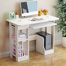 White Computer Desk with Drawers Storage Shelf
