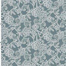 White Crochet Flower Vinyl Tablecloth | Suitable