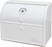 White Double Iron Box Bread Box Bin Tea Coffee Cup