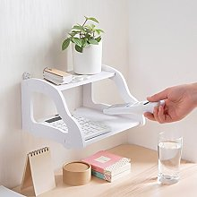 White Double Layer Wallmounted Router Rack,