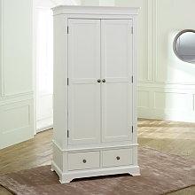 White Double Wardrobe - Davenport White Range
