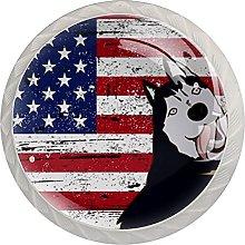 White Drawer Knobs American Flag Dresser Knobs