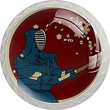 White Drawer Knobs Samurai Kendo Dresser Knobs