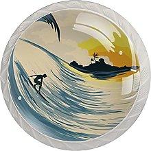 White Drawer Knobs Sunset Surf Dresser Knobs Round