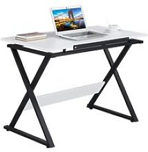 White Drawing Drafting Table, Writing Desk with