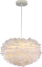 White Feather 30CM Pendant Light Modern Chandelier