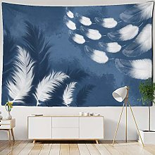 White Feather Tapestry Bohemian Wall Hanging