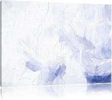 White Feathers Wall Art Print on Canvas East Urban