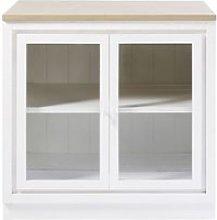 White Glazed 2-Door Kitchen Base Unit Embrun