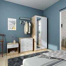 White Gloss Home Closet 2 Door Wardrobe with