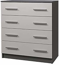 White/Gray OMEGA II Chest of Drawers Storage