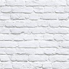 White / Grey Painted White Washed Brick Effect