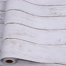 White Grey Wood Self Adhesive Paper 17.71 in X