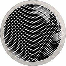White HalftoneRound Glass knob White Drawer