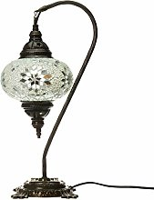 White Handmade Turkish Lamp Moroccan Ottoman Style