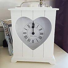 White Heart Wooden Standing Shabby Chic Shelf Or