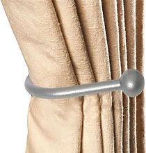 White Hinge 4x Large Metal Curtain Hold Back Set -