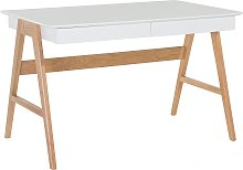 White Home Office Desk Multi-use Workstation with