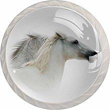White Horse White Crystal Drawer Handles Furniture