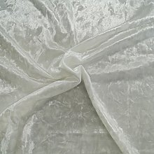 White - Ice Crushed Velvet Glitz Premium Stretch