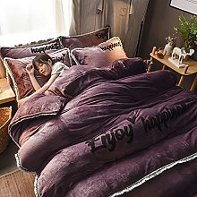 white king size duvet cover sets,Winter thick and