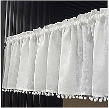White Kitchen Curtain American Cafe Short Curtain,
