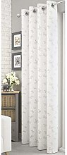 White Lace Butterfly Voile Net Curtain Panel