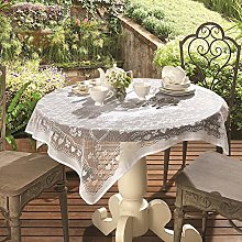 White Lace Square Tablecloth / Topper for Small