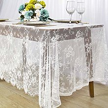 White Lace Tablecloth 60x120-Inch White Lace