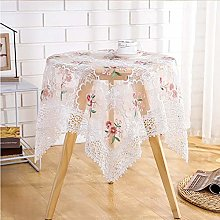 White Lace Tablecloth,Classy Embroidered Washable