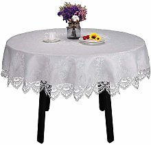 White lace tablecloth for round table wedding
