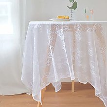 White Lace Tablecloth For Wedding Outdoor Party