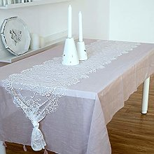 White Lace Tablecloth, Lace Fabric Tablecloth, For