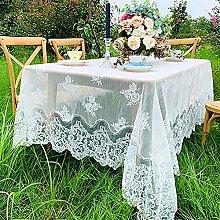 White Lace Tablecloth Vintage Floral Patterns