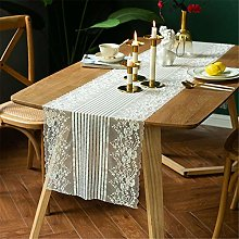 White Lace Widened Table Runner, Square Table