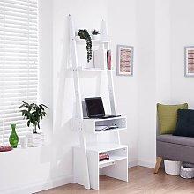 White Ladder Modern Style 3 Tier Computer Study