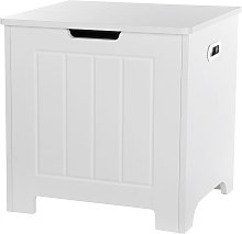 White Laundry Box Wood Bathroom Washing Clothes