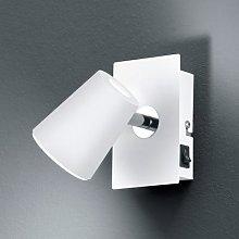 White LED wall spotlight Narcos w. pivotable head