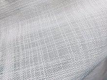 White Linen Look Inbetween Voile Tulle Organza