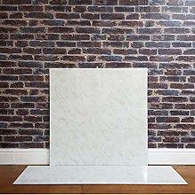 White Marble Effect HPL Laminate Fireplace Back