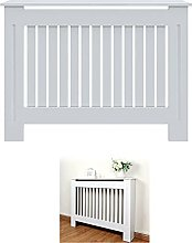 White MDF Radiator Cover Traditional Heater Cover