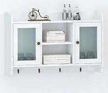 White MDF Wall Cabinet Display Shelf
