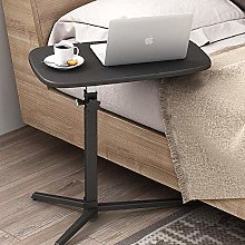 White MDF Wheeled Desk Laptop Stand with Lock