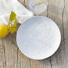 White Melamine Picnic Dinner Plate, White, One Size