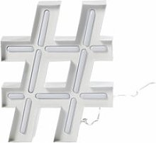 White Metal Light-Up Accessory L20