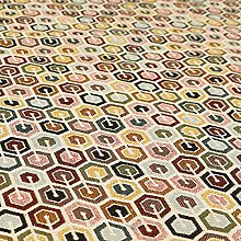 White Multi Coloured Full Hexagon Geometric