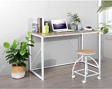 White oak Scandinavian wood metal Desk 120 * 60