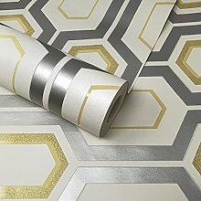 White, Ochre Yellow & Metallic Silver Textured